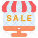 Black Friday Online Shop Cyber Monday Icon