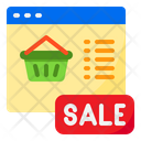 Shopping Sale Busket Icon