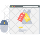 Online Sale Shopping Icon