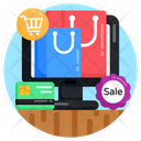 Online Shopping Ecommerce Online Sale Products Icon