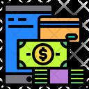 Smartphone Money Card Icon