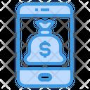 Smartphone Money Bag App Icon