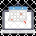Online Schedule Online Reminder Online Calendar Icon