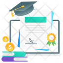 Online Graduation Online Scholarship Online Degree Icon