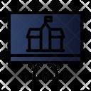 Computer Building University Icon