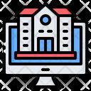 School Building Online Icon