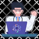 Online Scientific Research Icon