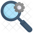 Internet Marketing Search Engine Magnifier Icon