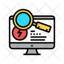 Research Computer Incident Icon
