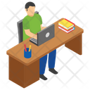 Online Reading Online Assignment Reading Student Icon