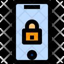 Online Security Smartphone Padlock Icon