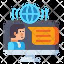 Online Seminar Video Conference Webinar Icon
