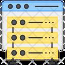 Data Server Server Rack Database Icon