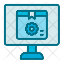 Online Service Truck Delivery Icon