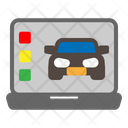 Laptop Car Service Icon