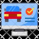 Monitor Screen Car Icon