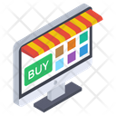 Shopping Website E Commerce Online Buying Icon