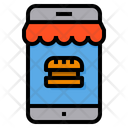 Online Shop Order Food Icon