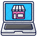 Laptop Online Shop Laptop Business Icon