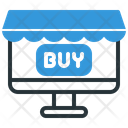Computer Online Shop Ecommerce Icon