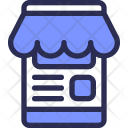 Mobile Online Shop Icon