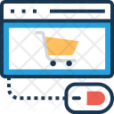 Online Shopping Commerce Icon
