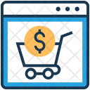 Shopping Dollar Trolley Icon