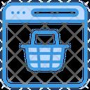 Website Shopping Online Shopping Ecommerce Icon