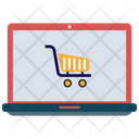 Online Shopping Trolley Cart Icon