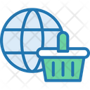 Shopping Basket Online Shopping World Wide Shopping Icon