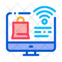 Online Shopping Wi Fi Icon