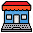 Marketing Laptop Shop Icon