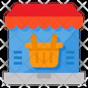Market Shoppping Laptop Icon
