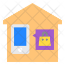House Smartphone Shopping Icon