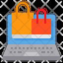 Online Shopping Shopping Bag Laptop Icon