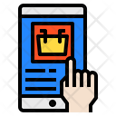 Hand Smartphone Shopping Icon