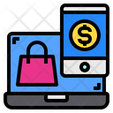 Laptop Shopping Bag Smartphone Icon