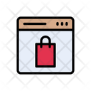 Webpage Shopping Online Icon