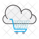 Cloud Cart Shopping Icon