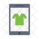 Mobile Shopping Garments Icon