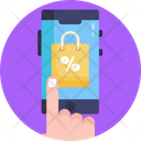 Online Shopping Shopping On Sale Shopping Icon