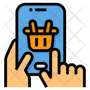 Mobile Shopping Basket Mobile Icon