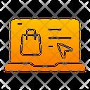 Online Shopping Laptop Ecommerce Icon