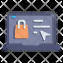 Laptop Ecommerce Online Icon