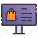 Computer Desktop Online Icon