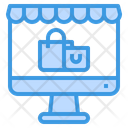 Online Shopping Online Store Shopping Bag Icon