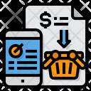 Online Shopping Checklist Smartphone Icon