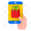 Online Shopping Shopping Bag Mobilephone Icon