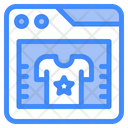 Online Shopping Website Store Icon
