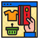 Online Shopping Credit Card Basket Icon